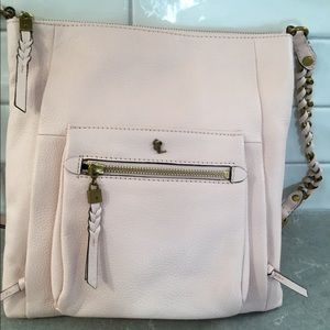 Elliott Lucca Gwen Pale Pink Leather Crossbody Bag